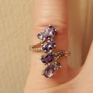Tanzanite 2.38cts Sterling Ring Size 6